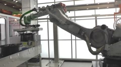 Industrial Robot Stock Footage