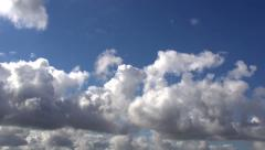 Time Lapseof  clouds appear in the sky. - stock footage