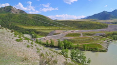 Confluence Chuya and Katun rivers, Altai, Russia Stock Footage