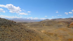Landscape in the Altai Mountains, pan view Stock Footage