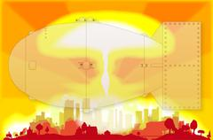 Atomic Bomb Blast - stock illustration
