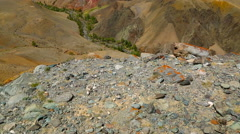 Landscape in the Altai Mountains, tilt view Stock Footage
