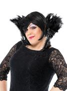 Actor Drag Queen Dressed as Woman Showing Emotions Stock Photos