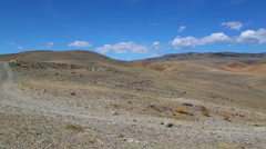 Landscape in the Altai Mountains, pan view - stock footage