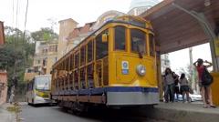 Bondinho de Santa Tereza/Lapa RJ 01 Stock Footage