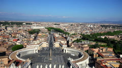 St. Peter Square in Vatican city, Italy Stock Footage