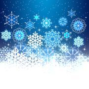 Christmas snowflakes light background. - stock illustration