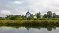 The Cathedral of the Nativity of the Theotokos in Suzdal Stock Footage