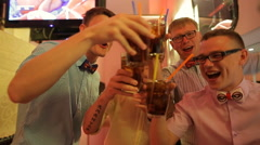 Guys at the stag-party - stock footage