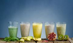Smoothie day, healthy and delicious - stock photo