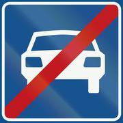Netherlands road sign G4 - End of main highway Stock Illustration