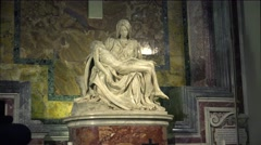 ULTRA HD 4K real time shot,The sculpture Pieta ( Michelangelo ), Rome Stock Footage