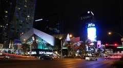 Static panorama Las Vegas hotel Aria. Night. Stock Footage