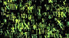 4k Alphabet matrix computer number background,finance password information data Stock Footage