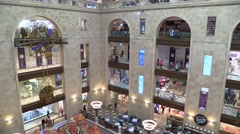 Trade shopping centre Detskiy Mir Big Watches Stock Footage