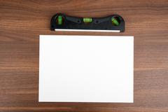 Blank card with level Stock Photos