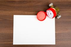 Blank card with water meter - stock photo