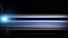 Futuristic animation with stripe object and lights, loop HD 1080p - stock footage