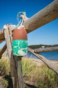 Old weathered lobster buoy Stock Photos