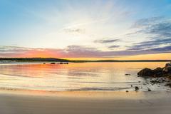 Carters Beach at sunset Stock Photos