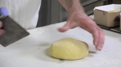 braiding brioche dough portions - stock footage