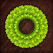 Christmas wreath vector - stock illustration