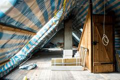 Restoring the attic. - stock photo