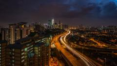 Time Lapse: Kuala Lumpur Sunset Time Lapse with lightning visible. Stock Footage