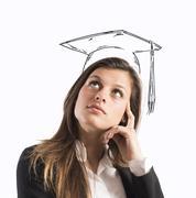 Graduate woman - stock photo