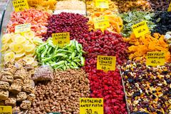 Dried Fruits from Spice Bazaar, Istanbul Stock Photos
