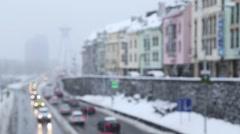 Rush hour in Bratislava.mp4 Stock Footage