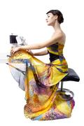 Creative Fashion Designer Altering a Dress Stock Photos