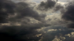 Time Lapse. Harsh northern sky before a severe thunderstorm. - stock footage