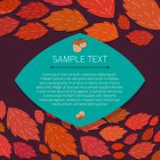 Autumn thanksgiving frame with copyspace - stock illustration