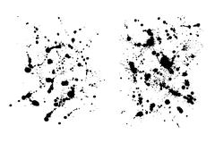Two grungy  ink blob textures for your designs - stock illustration