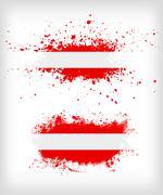 Grunge austrian  ink splattered flag vectors - stock illustration