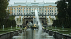 Grand Palace in Peterhof Russia Stock Footage