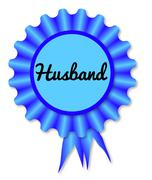 New Husband Rosette Stock Illustration