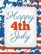 Happy 4th of July card, national american holiday Independence day Stock Illustration