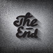 """Old movie ending screen, stylised noir """"The End"""" lettering Piirros"""
