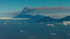 Distant Smoke Column from Ruang Volcano in Bai, Indonesia Stock Footage