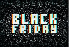 3D stereo effect black friday banner, sale announcement for retail business Stock Illustration
