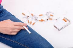 Bad habit evoke worse dependence on it - stock photo