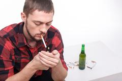 Bad nicotine habit courses unhealthy life for you Stock Photos