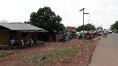 Stock Video Footage of Africa market road city buba