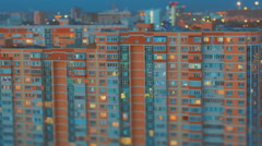 TILT-SHIFT views of city lights at night - stock footage