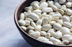Large beans with a buttery flavor and starchy texture. - stock photo