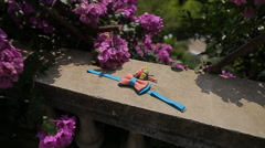 Toy butterfly tie Stock Footage