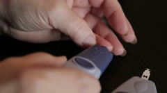 Sugar levels self device Stock Footage