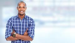 African-american man. - stock photo